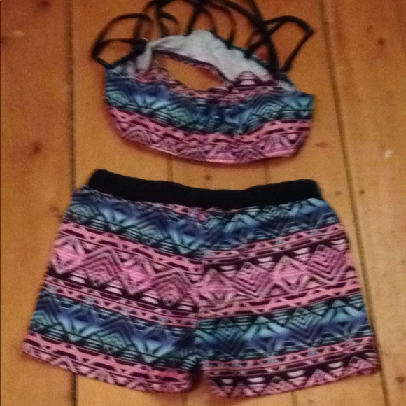 Other - 2 price swim suit top and bottom multiply straps